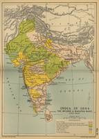 Vintage India Maratha and Mysore War Map (1804)