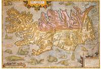 Vintage Map of Iceland (1590)
