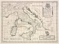 Vintage Map of Italy (1700)