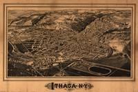Vintage Pictorial Map of Ithaca New York (1882)
