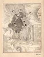 Vintage Map of Jerusalem Israel (1835)