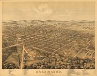 Vintage Pictorial Map of Kalamazoo Michigan (1874)