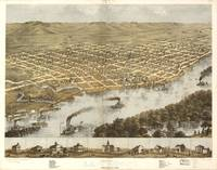 Vintage Pictorial Map of La Crosse WI (1867)