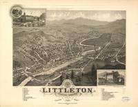 Vintage Pictorial Map of Littleton NH (1883)