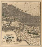 Vintage Map of Los Angeles County CA (1900)