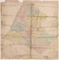 Vintage Map of Loudoun County Virginia (1861)