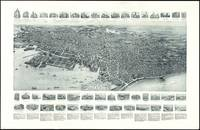 Vintage Pictorial Map of Lynn Massachusetts (1916)