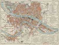 Vintage Map of Lyon France (1888)