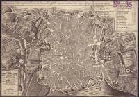 Vintage Map of Madrid Spain (1702)
