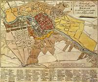 Vintage Map of Berlin Germany (1789)