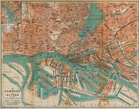 Vintage Map of Hamburg Germany (1910) 2