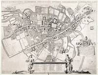 Vintage Map of Cambridge England (1690)