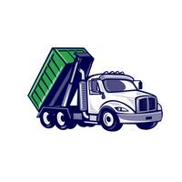 Roll-Off Truck Bin Truck Cartoon