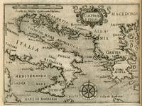 Vintage Map of Italy and Greece (1587)