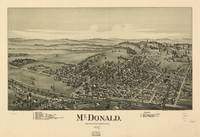 Vintage Pictorial Map of McDonald PA (1897)