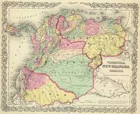 Vintage Map of Venezuela, Ecuador, Colombia (1855)