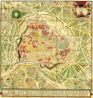 Vintage Map of Vienna Austria (1710)