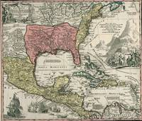 Vintage North America and Caribbean Map (1720)