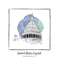 United States Capitol Brushstroke Buildings