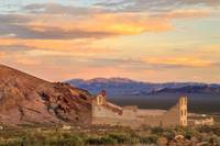 Rhyolite Bank At Sunset