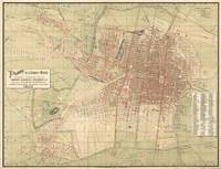 Vintage Map of Mexico City (1907)