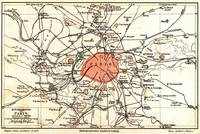 Vintage Paris and Surrounding Area Map (1890)