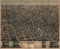 Vintage Pictorial Map of Middletown NY (1874)