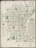Vintage Map of Milwaukee Wisconsin (1909)