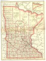 Vintage Map of Minnesota (1893)