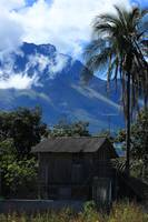 Wooden Hut and Mount Imbabura