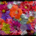 """7f Abstract Floral Painting Digital Expressionism"" by Ricardos"