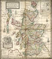 Vintage Map of Scotland (1718)