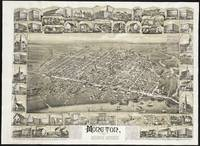 Vintage Pictorial Map of Moncton NB (1888)