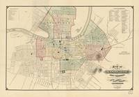 Vintage Map of Nashville Tennessee (1877)