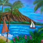"""""""Aloha Diamond Head"""" by jennylee"""