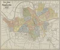 Vintage Map of Nashville Tennessee (1920)
