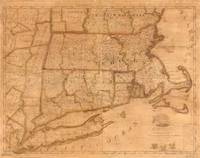 Vintage Map of New England States (1843)