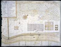 Vintage Map of New Orleans Louisiana (1747)