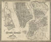 Vintage Map of NYC and Brooklyn (1855)