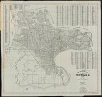 Vintage Map of Newark NJ (1920)