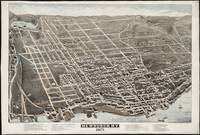 Vintage Pictorial Map of Newburgh New York (1875)