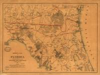 Vintage Map of Northern Florida (1864)