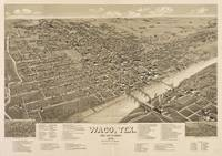 Vintage Pictorial Map of Waco Texas (1886)