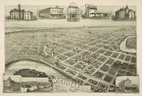 Vintage Pictorial Map of Wichita Falls TX (1890)