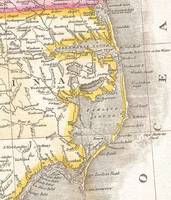 Vintage Map of The Outer Banks (1818)