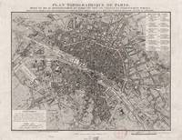 Vintage Map of Paris France (1837)