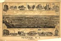 Vintage Pictorial Map of Paterson NJ (1880)