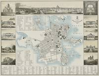 Vintage Map of Helsinki Finland (1860)