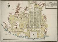 Vintage Map of Lisbon Portugal (1786)