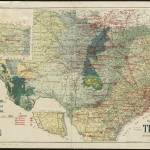 """Vintage Map of The Texas Oil and Gas Fields (1920)"" by Alleycatshirts"